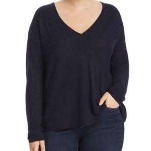 Eileen Fisher Silky Tencel V-Neck Box Top Sweater